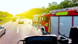 Accident de la route sur autoroute